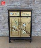 凡高漆器金箔花鳥兩斗雙門櫃