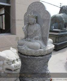 金华寺庙石雕地藏王像加工 大型室外地藏菩萨石雕站像