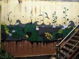 南京庭院墙体手绘图藤蔓 上门彩绘手绘壁画H3