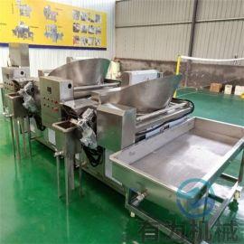 加工定制土豆片油炸机,薯片油炸生产线