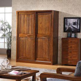 重庆现代中式实木衣橱禅意环保卧室实木家具定制