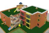 幼兒園戶外設計木質組合滑梯原生態拓展設施兒童攀爬架
