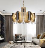 美式電鍍水晶吊燈別墅家居用燈