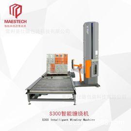 全自动智能裹膜机防潮防尘纯钢缠膜打包机可定制