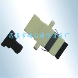 SC单模单工光纤适配器 灰色塑料SC型光纤适配器 多模光纤法兰盘