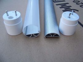 LED日光灯外壳—T8铝塑管(铝合金+PC罩)