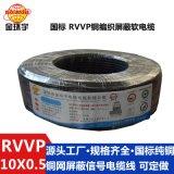大量供应 铜  电线 金环宇软护套线 RVVP10*0.5软电缆线 护套线