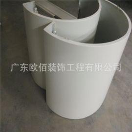 商场圆柱包柱铝板,弧形包柱铝单板,半圆形铝板