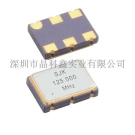 SJK低相噪差分LVPECL输出晶体振荡器SMD 7050