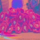 毛線雙色手鉤花 服飾配件 髮飾配件蝴蝶結