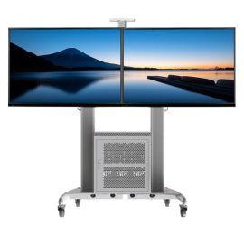 NBAVG1800-60-2A50-60寸双屏视听机柜推车视频会议移动落地电视支架/电视手动挂架