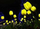 戶外防雨防水太陽能模擬LED鬱金香玖瑰花草地燈