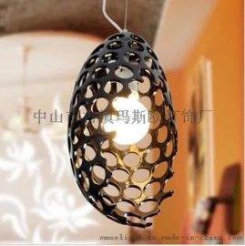 玛斯欧树脂恐龙蛋外形灯罩创意时尚镂空吊灯E27节能光源浪漫暖光MS-P1011现代简约餐厅吊灯