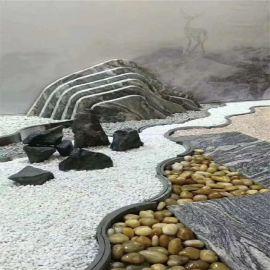 高光普光雨花石生产厂家 庭院园林造景铺路雨花石 黑色彩色鹅卵石