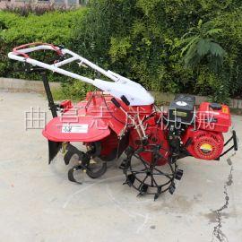 汽油手推式四驱微耕机农用果园松土除草机小型旋耕机