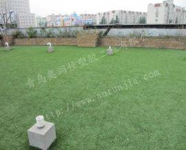 青岛景观人造草坪-幼儿园彩虹草-跑道草坪