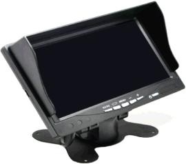 7寸车载四分割液晶显示器录像一体高清显示屏