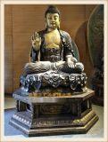 铸铜佛像|铜雕三宝佛定做,正圆铜佛像生产厂家