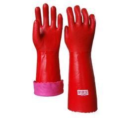 顺兴厂家批发 防护手套 家用保暖pvc手套 安全舒适防寒耐酸碱40cm