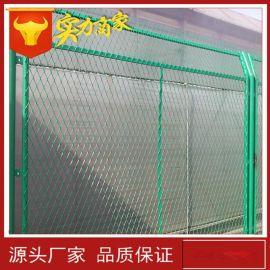 桥梁防抛网 钢板网菱形网护栏 球场体育场防护网 绿色金属防护网