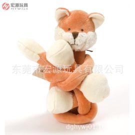 厂家来图定制毛绒瑜珈系列 定制狐狸款瑜珈用品 东莞OEM贴牌生产