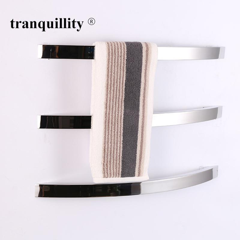 單杆扁管弧形電熱毛巾架,時尚不鏽鋼電熱毛巾架