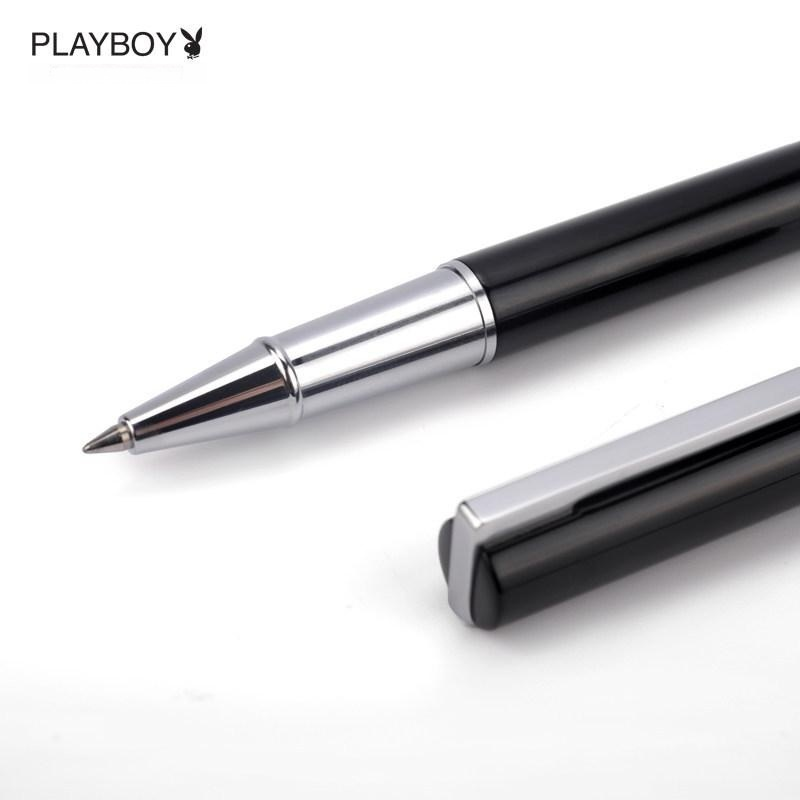 花花公子金属中性笔商务签字笔黑0.5mm