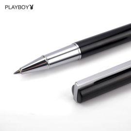 花花公子金屬中性筆商務籤字筆黑0.5mm