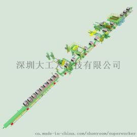 深圳大工人 大型钢卷打捆  全自动钢卷包装生产线