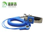 凌亦浩廠家直銷PU防靜電手環有線藍色防靜電有繩手腕帶批發