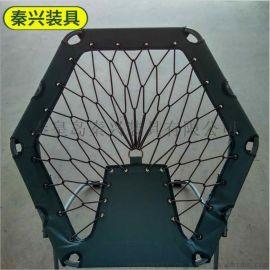 户外六角折叠椅 圆形折叠椅 便携式折叠椅 迷你休闲折叠椅