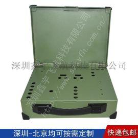 14寸工业便携机机箱定制无屏加固笔记本军工电脑外壳
