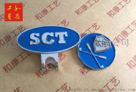 金属帽夹制作 铁材料 高尔夫帽夹背面磁铁扣