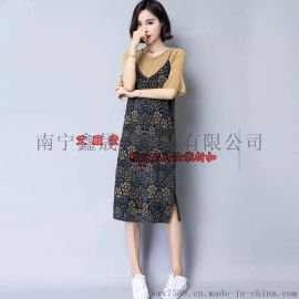 玫瑰麗人時尚淑女大碼連衣裙品牌女裝折扣批發
