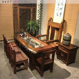 工厂直销老船木茶桌功夫泡茶桌客厅茶几茶桌
