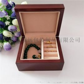 专业定制款木质珠宝盒红色耳环戒指项链饰品收纳盒