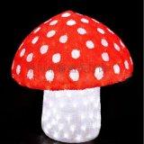 LED亞克力蘑菇造型燈花園庭院裝飾滴膠蘑菇圖案燈