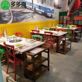 深圳卜卜贝火锅连锁餐厅 田园风白色大理石餐桌