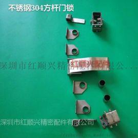不锈钢方杆门扣防爆锁拉杆锁烘烤箱专用门锁