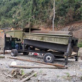 河床选金机械出口 沙金淘洗设备照片 新型采金设备