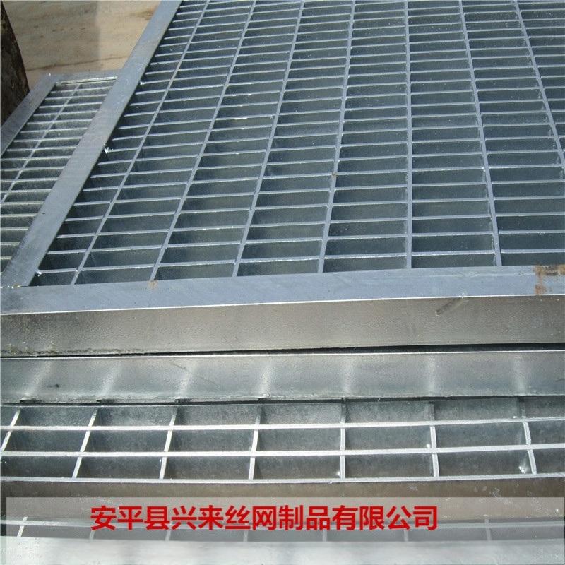 钢格栅踏步板 踏步格栅板 镀锌钢格栅板