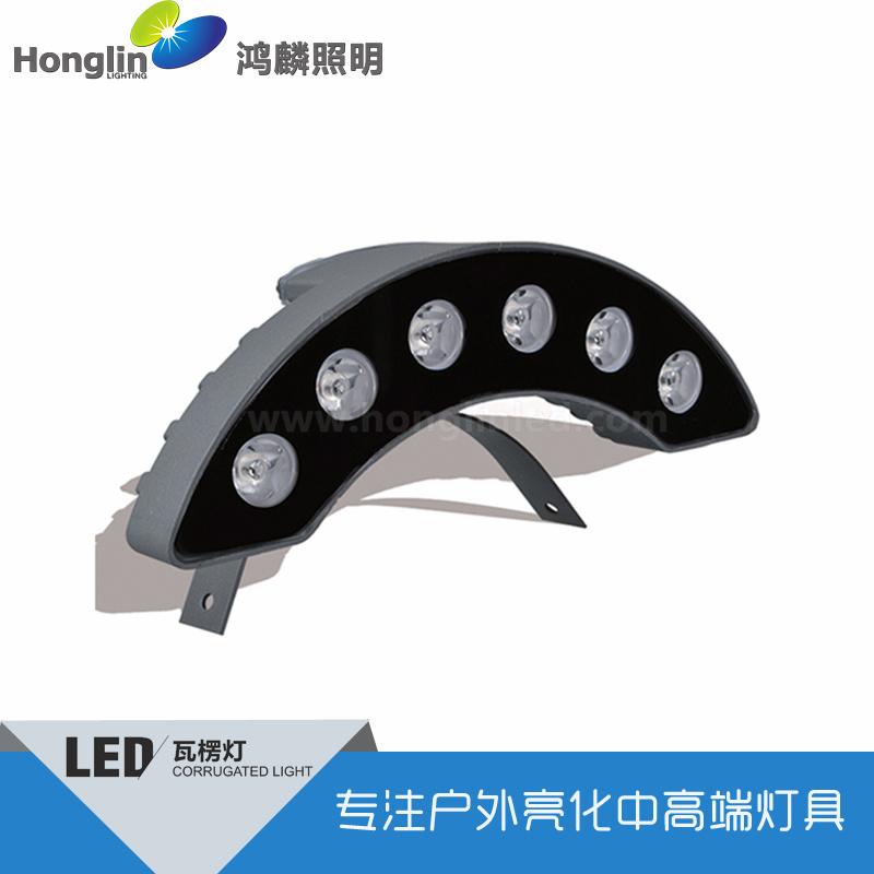 新款特色led瓦楞灯6W瓦面用亮化射灯
