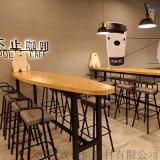 欣百恒主题咖啡厅吧台桌椅休闲咖啡桌酒吧椅全店定制