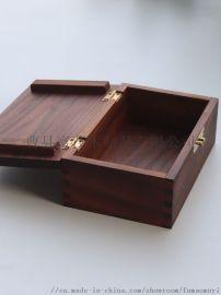 胡桃木盒定制翻盖木盒内衬胡桃木盒