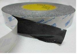 茗超供应无纺布黑色双面胶 油性黑色无纺布双面胶