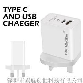 QIHANG/旗航Z22type-c接口USB接口英规充电器