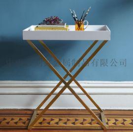 金色不鏽鋼烤漆酒水架餐邊桌玄關邊角幾多功能置物架