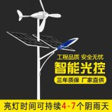 新農村風光互補太陽能路燈 戶外風機互補路燈路燈杆 風力發電路燈