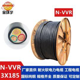 金环宇电缆线PVC护套软电缆N-VVR3*185深圳电缆厂家耐火电缆