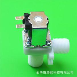 无压放水上水补水电磁阀G1/2管螺纹外螺纹垂直阀体